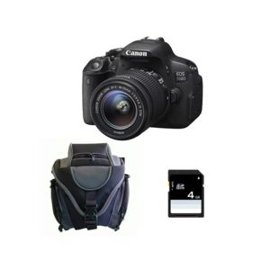 canon pack reflex eos 700d objectif 18 55 mm is stm sac carte m moire sd 4go pas cher. Black Bedroom Furniture Sets. Home Design Ideas