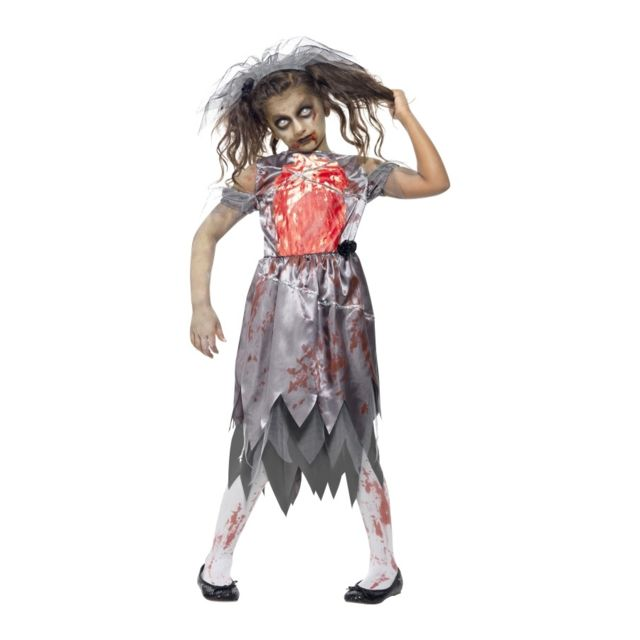 Marque Generique - Déguisement mariée zombie pour enfant - pas cher ... f2e132ec7e7