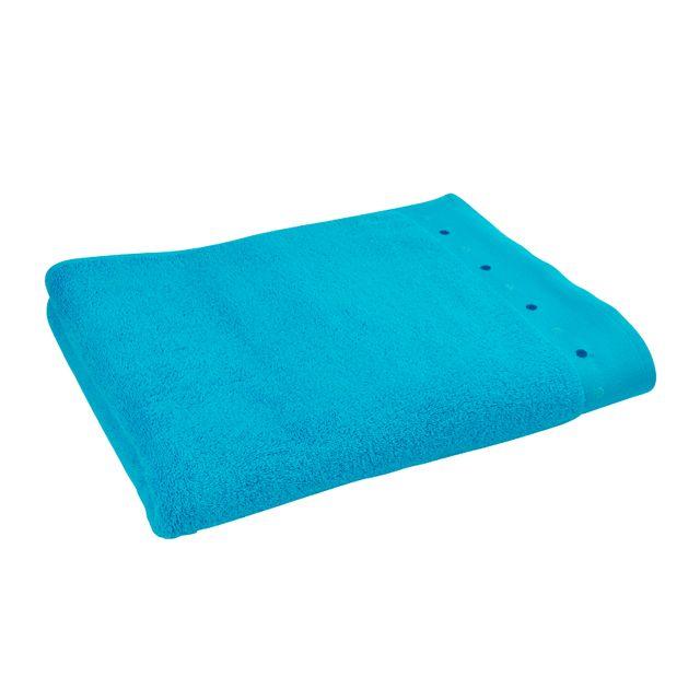 TEX HOME Drap de douche POPPY La gamme POPPY vous offre des produits en éponge alliant la douceur du coton et une bonne capacité d'absorption. Drap de douche. Coloris turquoise. Dimensions : 70x140 cm. Matière : éponge 100% cot