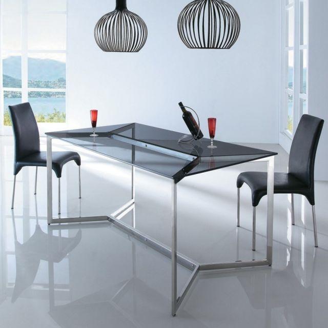 Table A Manger En Verre Pas Cher.Table A Manger En Verre Design Bruce