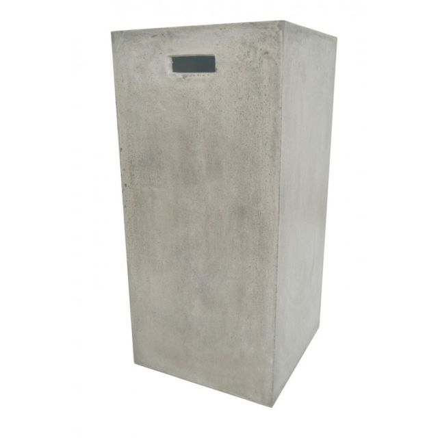 Meubletmoi Sellette petit format en cube en béton - style contemporain - design moderne et industriel