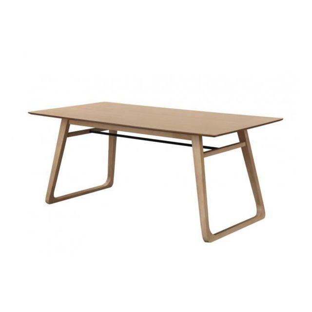 Declikdeco Table à manger Bois 180cm Frayn