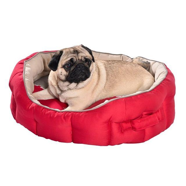 Les Animaux De La Fee Corbeille pour chien Bonjour rouge Taille Xs