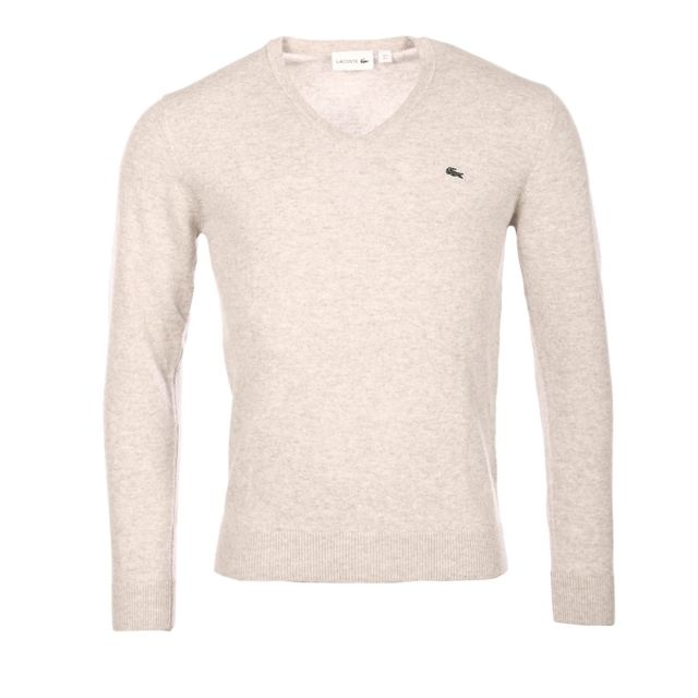 a57913774c Lacoste - Homme - Pull 100% laine col V avoine chine Ah3003 - pas cher  Achat / Vente Blouson homme - RueDuCommerce