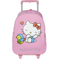 DISNEY - Hello Kitty - Petit sac à dos à roulettes rose - L 24,1cm