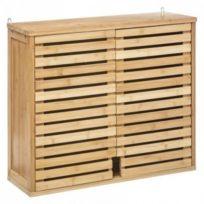 Meuble Haut Salle Bain 2 Portes Bambou Sicela