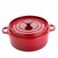 Alinéa - Invicta Cocotte ronde D28cm en fonte rouge tous feux dont induction