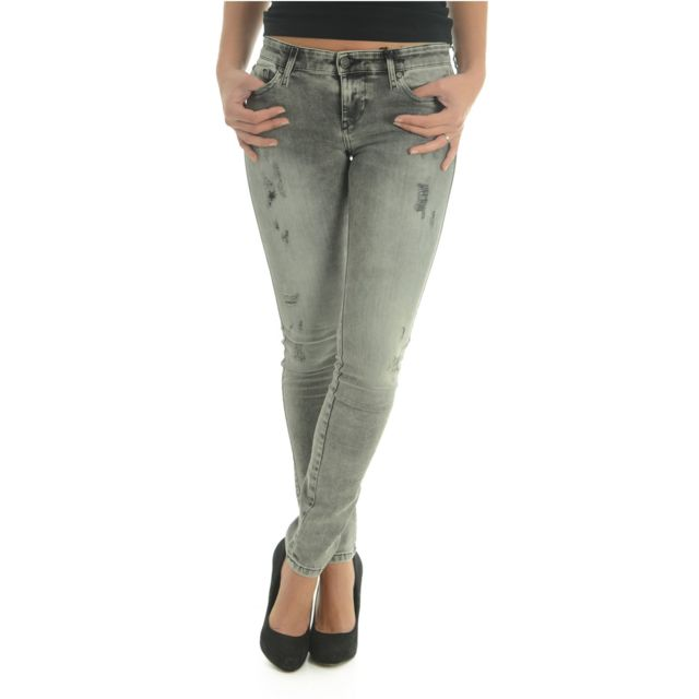 b569e18899 Diesel - Jean Skinny Seconde Peau Skinzee 847y - pas cher Achat / Vente  Jeans femme - RueDuCommerce