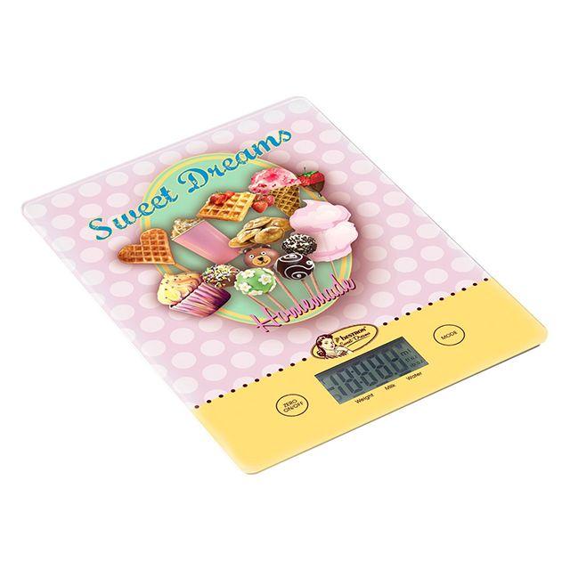 BESTRON balance de cuisine électronique 5kg - 1g rose - aks700sd