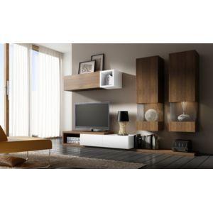 house and garden meuble tv design notte b sans complement chene avec elements en blanc pas. Black Bedroom Furniture Sets. Home Design Ideas