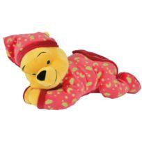 Nicotoy - Peluche Winnie Phosphorescente Rouge 30 Cm - Disney - Doudou Brille Dans La Nuit