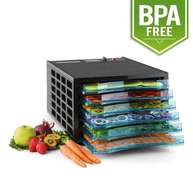 KLARSTEIN Fruit Jerky 6 Basic Déshydrateur alimentaire sans BPA 630W 6 étages