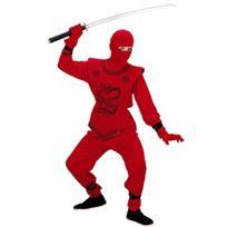 Sancto - Widmann 74537 Costume Et Masque De Ninja Pour Enfant Rouge