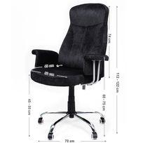 Rocambolesk - Superbe Fauteuil de bureau Chaise pour ordinateur réglable Obg41B neuf