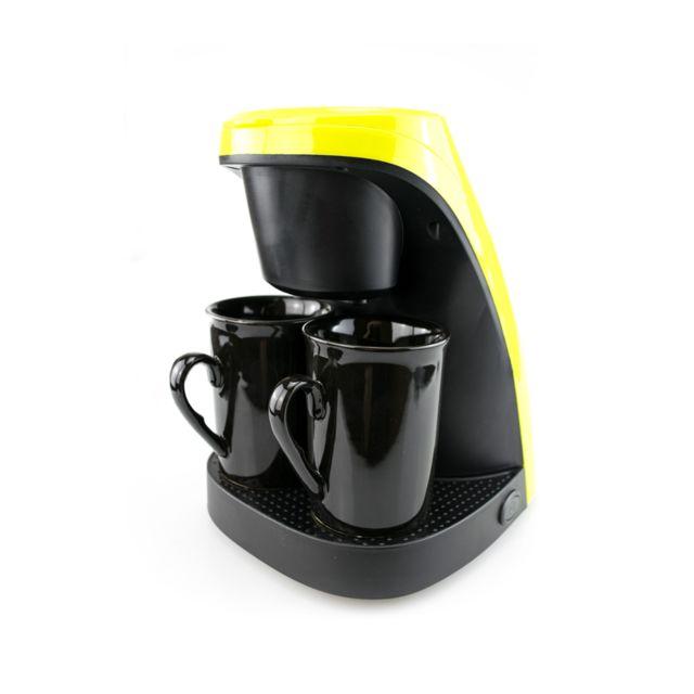 Zeeshop Machine à café compacte capacité 240 ml – 2 tasses incluses - fonction arrêt automatique