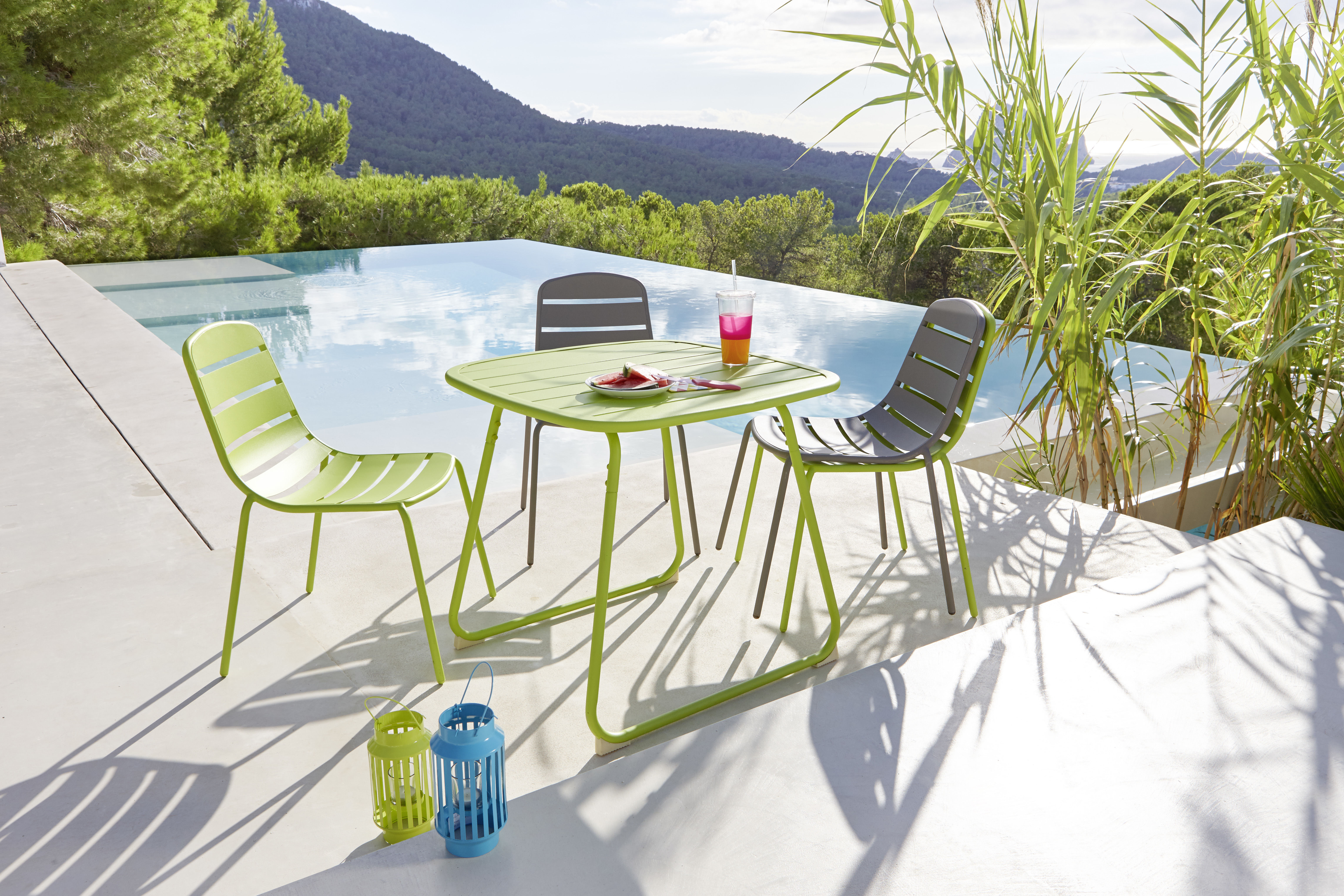 Table de jardin OPTIMISTIC - Acier - Vert