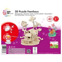Marabu - Mara Puzzle 3D Maison de Fées pour Enfant de + 5 Ans
