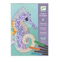 Djeco - Feutres et crayons L'art du motif - Kit créatif 7-13 ans