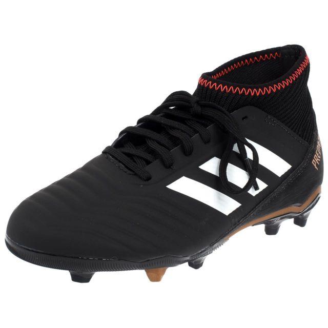 Adidas Gris Chaussures lamelles Predator football j cblack 18 3 fg AArwzqf