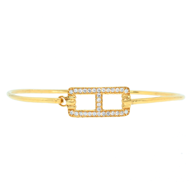 Alexandra Plata Bracelet en argent sterling plaqué or jaune