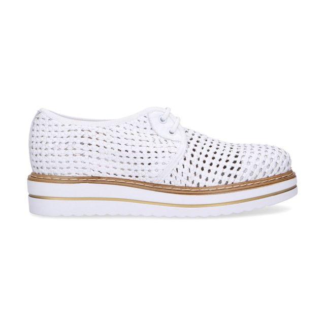 Jackal Femme Jl75368O Blanc Cuir Chaussures À Lacets