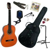 Msa - Pack Guitare Classique 4/4 Adulte, Avec 7 Accessoires nature