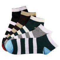 Marque Generique - Modebas.fr - Pack de 12 Paires Socquettes Assorties Coton Rayée Homme T.U. Taille unique - Assortie