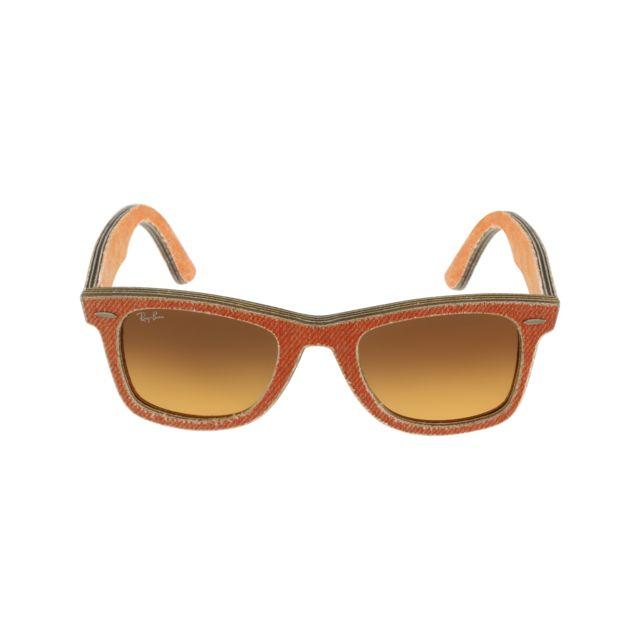 46ef2c1047e8fa Ray-Ban - Ray Ban - Denim Wayfarer Rb2140 1165 3C Orange - Lunettes de  soleil - pas cher Achat   Vente Lunettes Tendance - RueDuCommerce