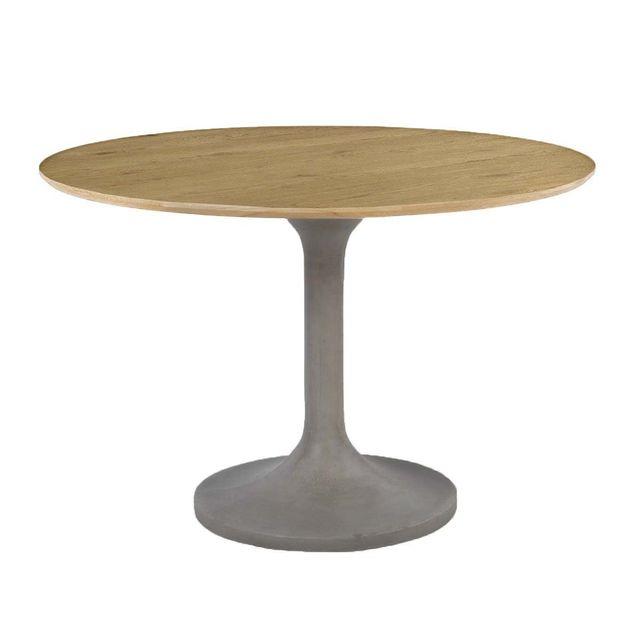 ZAGO Table à manger béton et chêne Iris