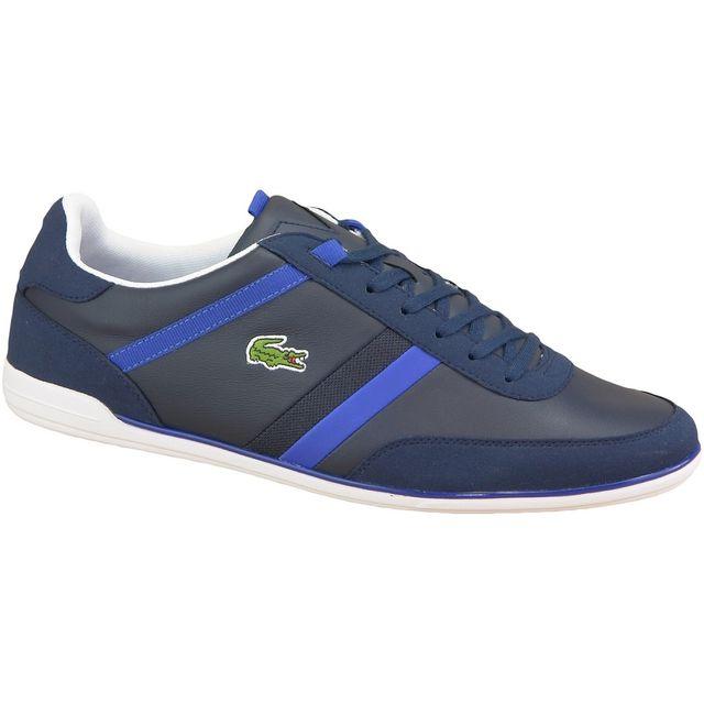 9301976b85 Lacoste - Giron Spm0018003 Homme Baskets Bleu 40 1/2 - pas cher Achat /  Vente Baskets homme - RueDuCommerce