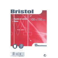 Majuscule - fiche bristol uni blanche 100x150 - paquet de 100