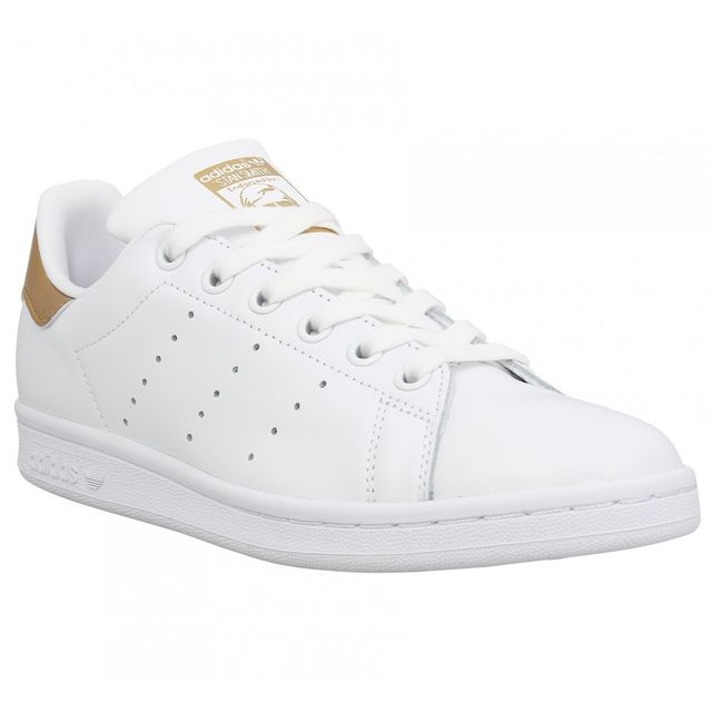 Adidas - Stan Smith cuir Femme-41 1/3-Blanc Or