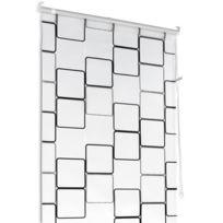 Aquamarin - Store de douche motif cube - taille au choix 85 x 240 cm