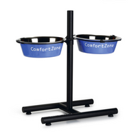 "Beeztees - Double bol d'alimentation avec support en H ""Comfort Zone"" 25 cm"