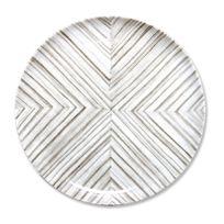 Bruno Evrard - Esquiss Plat plat - Matière : Porcelaine - Couleur : Blanc, Gris clair, Gris foncé