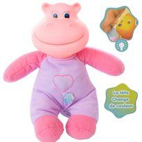 Touslescadeaux - Veilleuse Peluche Doudou - Change de couleur - Hippopotame