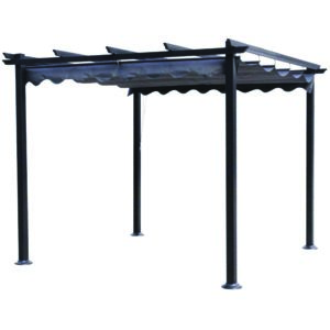 midland garden pergola malaga 3x3 pas cher achat vente pergola rueducommerce. Black Bedroom Furniture Sets. Home Design Ideas
