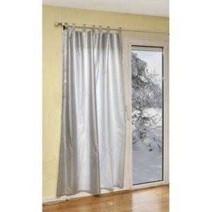 ose rideau thermique 140 x 180 cm gris pas cher achat vente rideaux de porte rueducommerce. Black Bedroom Furniture Sets. Home Design Ideas
