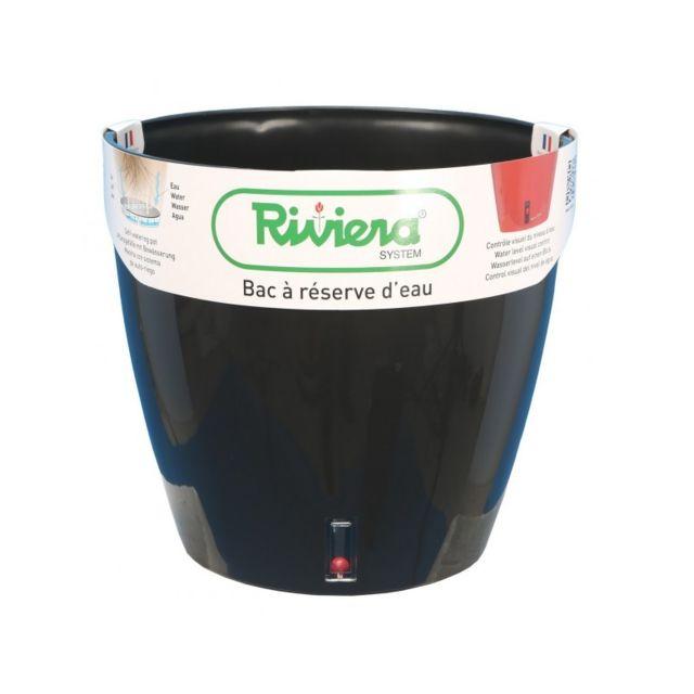 Riviera & Bar Pot Eva rond diametre 46cm noir - Riviera