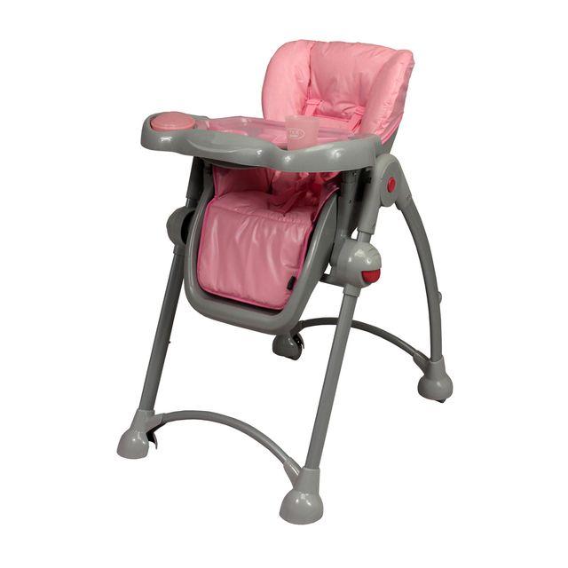 Tex baby chaise haute t lescopique b b tex gris et rose pas cher achat vente chaises - Chaise haute telescopique ...