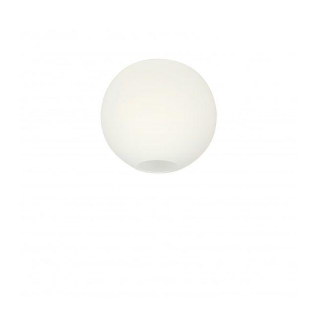Luminaire Center Suspension Glob en Verre et Opale Diamètre 26,1 Cm