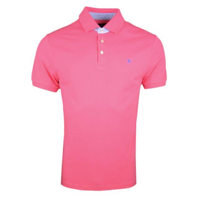 e71ce677170 Hackett - Polo piqué rose basique slim fit pour homme - pas cher Achat   Vente  Polo homme - RueDuCommerce