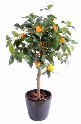 artificielflower arbre artificiel fruitier oranger t te en pot int rieur cm vert. Black Bedroom Furniture Sets. Home Design Ideas