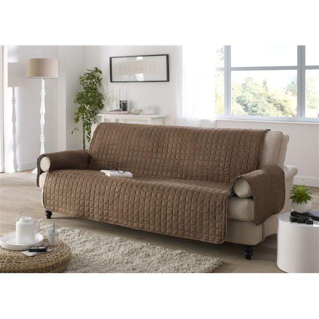 les douces nuits de ma protege canap 2 places chocolat cacao pas cher achat vente. Black Bedroom Furniture Sets. Home Design Ideas