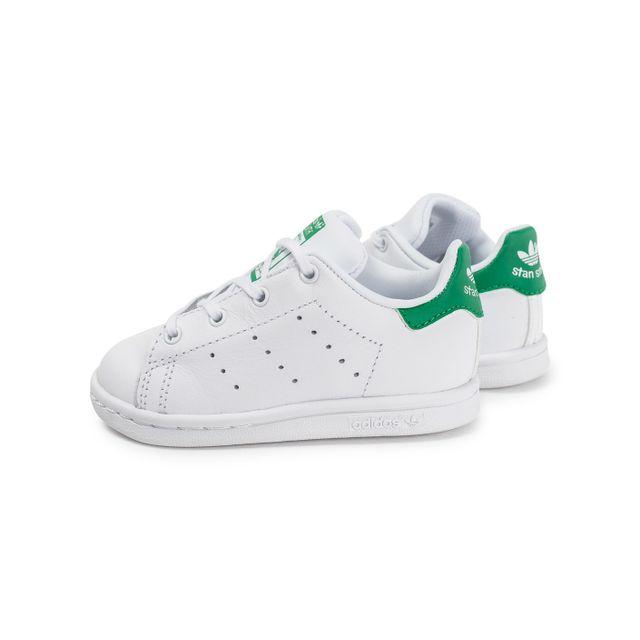 Adidas originals - Stan Smith Bébé Blanche Et Verte - pas cher Achat ... 87a90a60b6f2