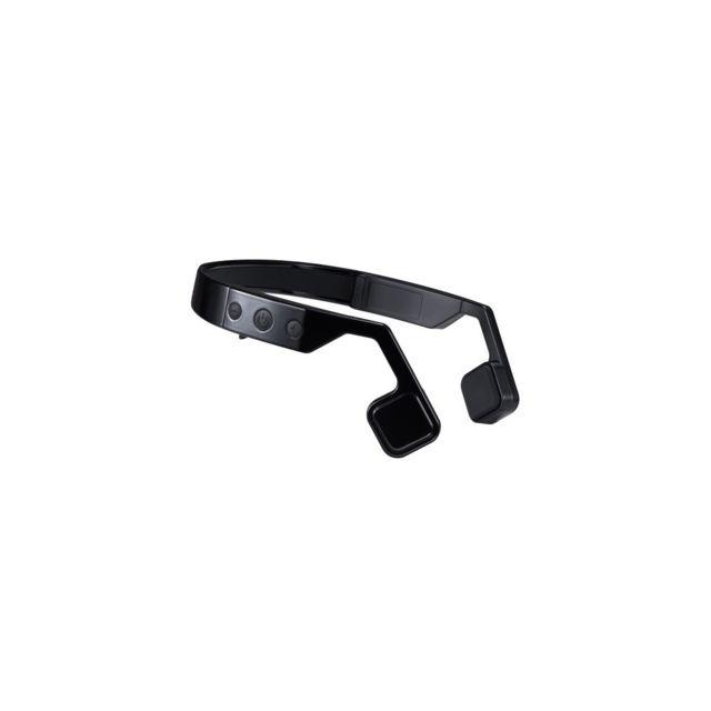 Auto-hightech Casque sans fil à conduction osseuse avec Bluetooth et microphone - Noir