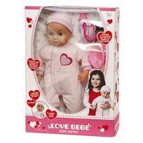 LOVE BEBE - Poupon 46 cm 50 mots