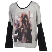 Kaporal 5 - Tee shirt manches longues Perac grey mel ml tee Gris 41188