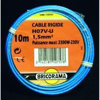 - Câble Ho7VU 1,5 mm2 100 ml bleu