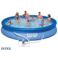 INTEX - Piscine autoportée Easy Set 4,57 x 0,84 m